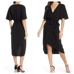 COOPER ST River Flutter Sleeve Wrap Midi Dress NWT